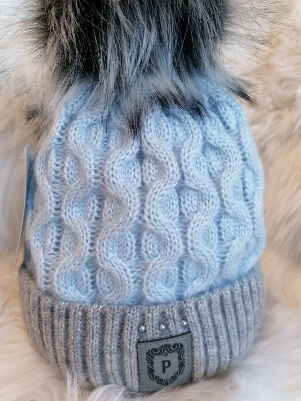 Perfect Hats Two Tone Baby Blue/ Grey