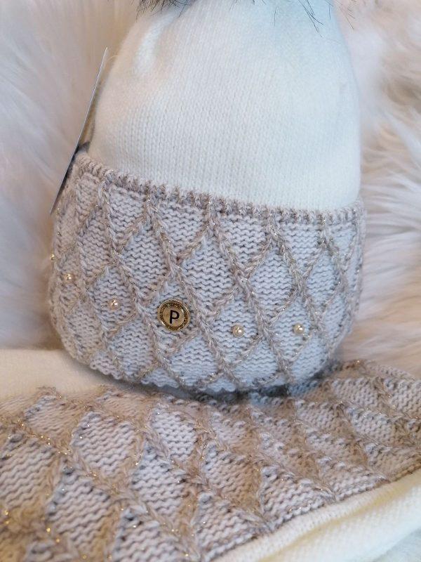 Perfect Hats Karina Snood Set Ecru