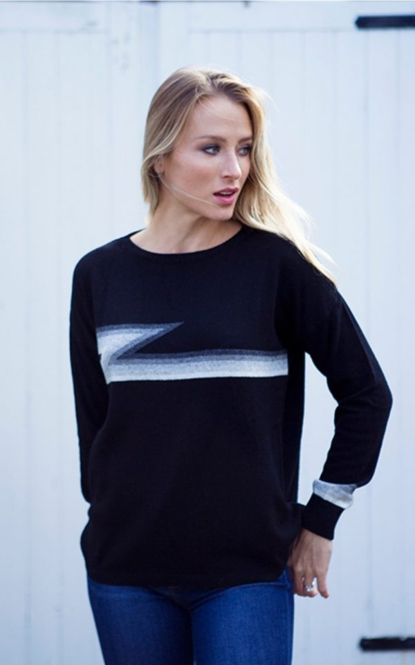 Luella Knitwear Ziggy Black Multi