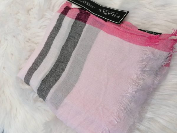 Fraas Pink Check Scarf