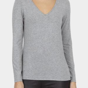 Cotton Bros Grey V-Neck Long Sleeve Tee