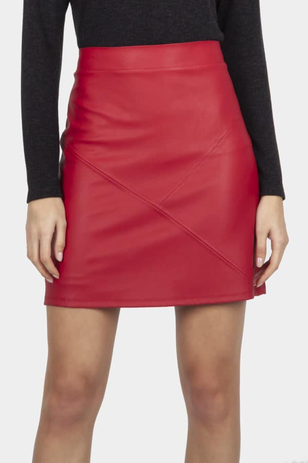 Cotton Brothers Flame Faux Leather Skirt