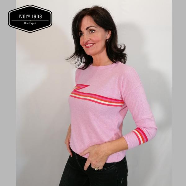 Luella Ziggy Cashmere blend pink Jumper