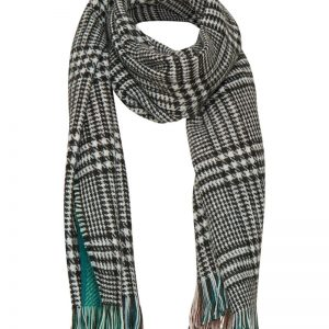Cream Chelly scarf in frosty green