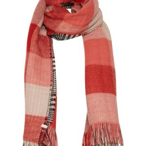 Cream Chelly scarf in scarlet orange