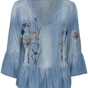 Nelly top light blue denim