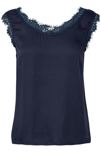 Cream Clothing Alena top navy