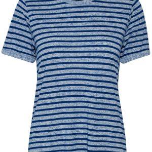 Cream Merilin T-shirt in Limoges Blue