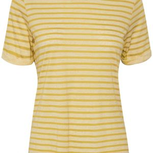 Cream Merilin T-shirt in Cornsilk Yellow