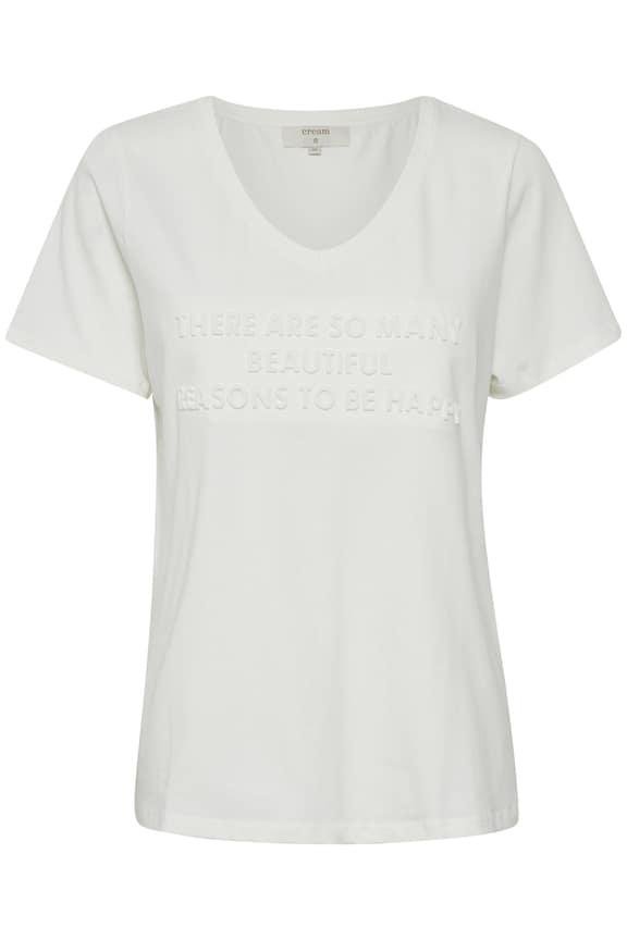 Cream Anne T-Shirt in Chalk