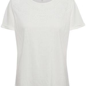 Cream Naia O-Neck T-Shirt Chalk