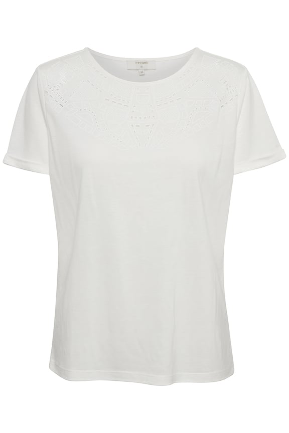 Cream Naia O-Neck T-Shirt Chalk