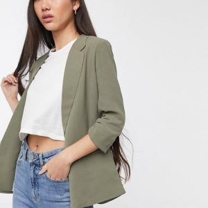Soaked in Luxury Shirley Blazer Hedge Green