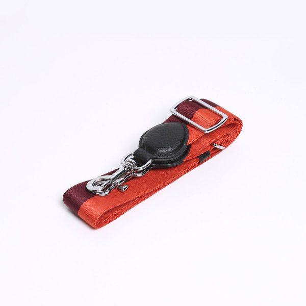 Smaak Adjustable Shoulder Strap in Orange / Burgundy Silver Hardware