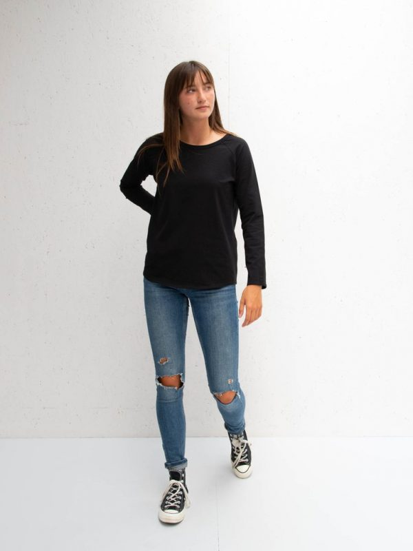 Chalk Clothing Tasha Long Sleeve Tee in Black Leopard