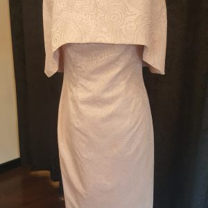 Anoola mother of the bride rose gold cape dress