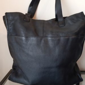 Cigno Nero Black Leather, cow wash, Shopper Bag