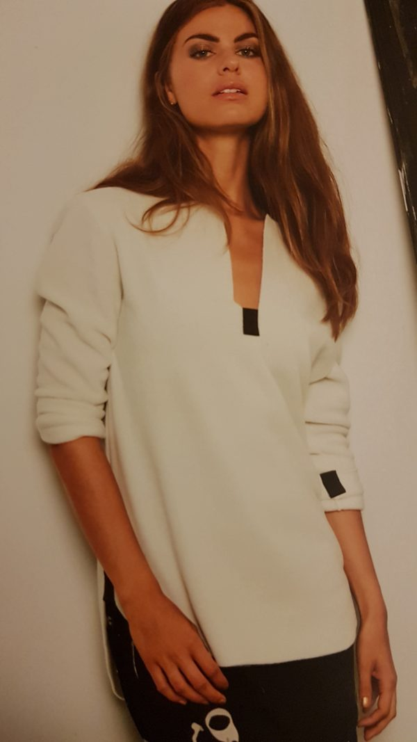 Henriette Steffensen Slit Blouse in Off White