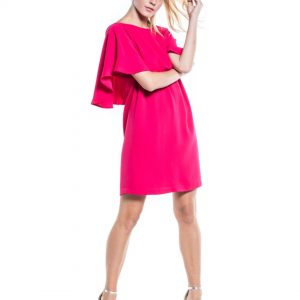 Cotton Brothers Dress in Rose Fushia