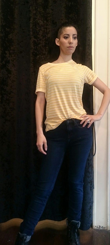 Cream Merilin T-shirt in Cornsilk Yellow