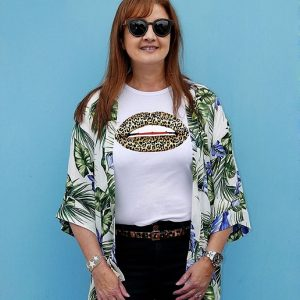 Gina Potter Leopard Lips T-Shirt