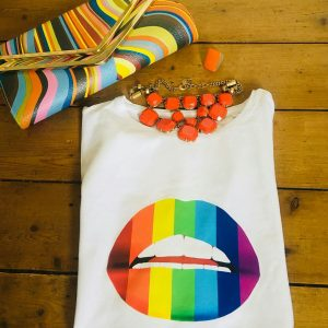 Gina Potter Rainbow Lips T-Shirt