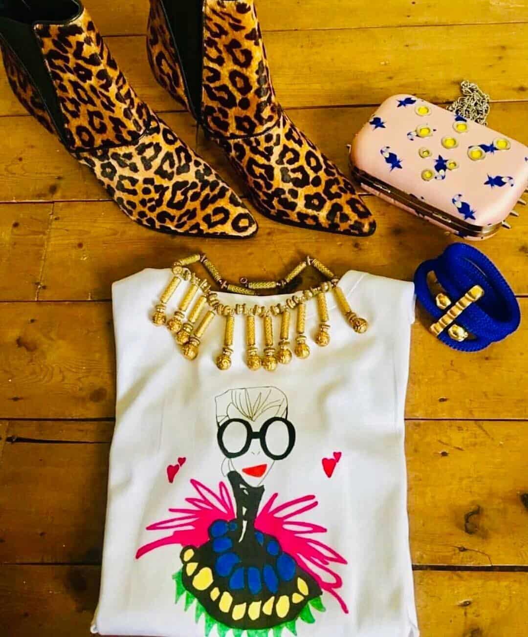 87a2133bb Gina Potter Iris Apfel T-Shirt - Ivory Lane