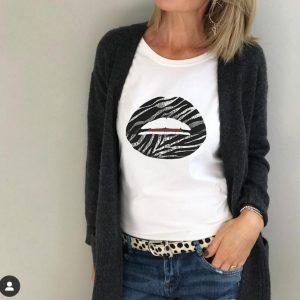 Gina Potter Zebra Lips T-Shirt