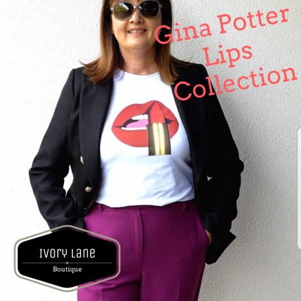 Gina Potter Lipstick Lips T-Shirt