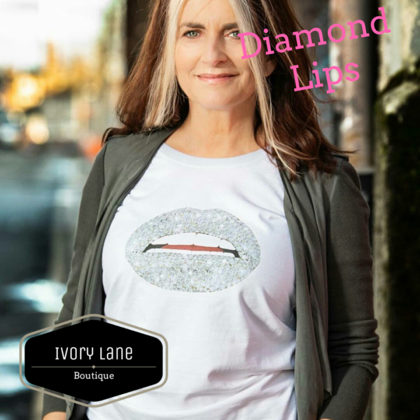 Gina Potter Diamond Lips T-Shirt