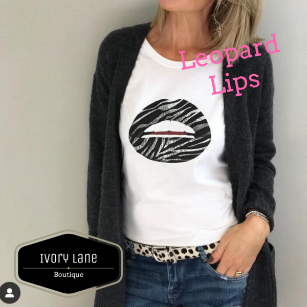 Gina Potter Zebra Lips T-Shirt