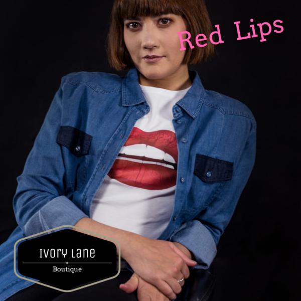 Gina Potter Red Lips T-Shirt