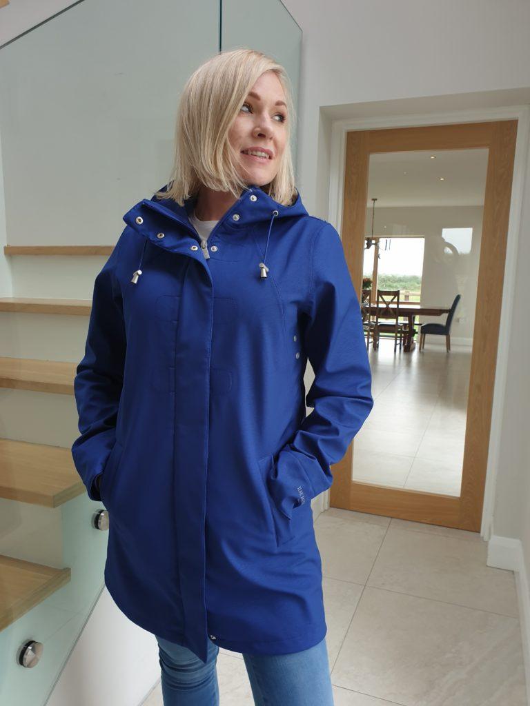 Ilse Jacobsen raincoat 115b in Blue Depth