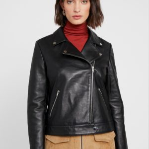 Soaked in Luxury Maeve Black Leather Jacket