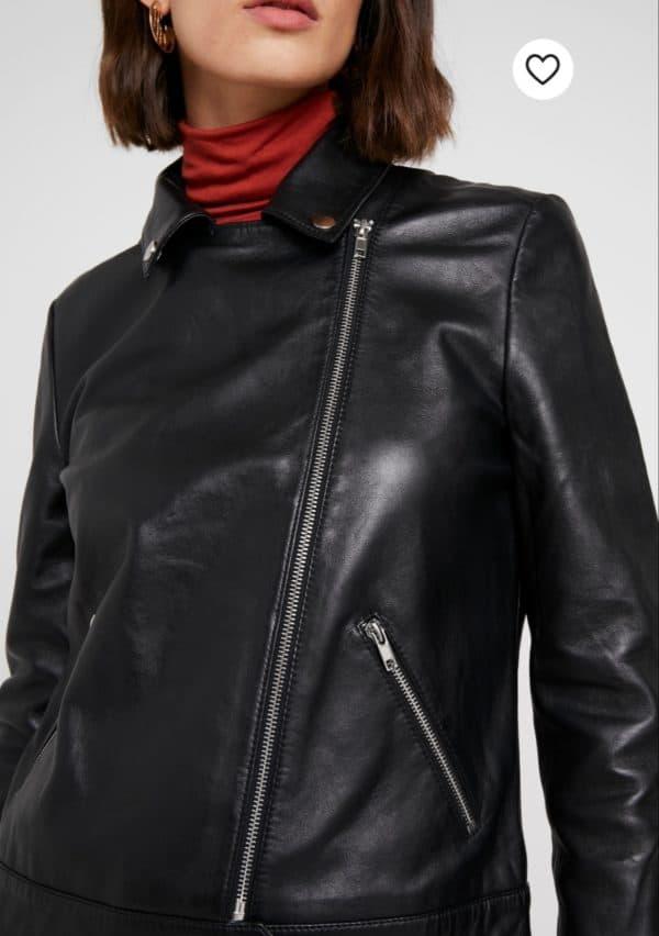 Soaked in Luxury Maeve Black Leather Jacket