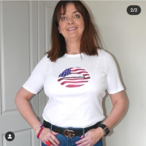 Gina Potter Stars and Stripes Lips Tee