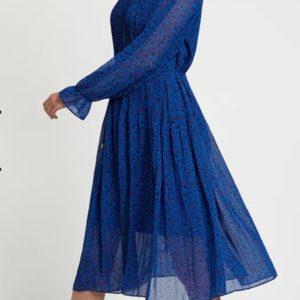 Louche Ouifa Honeysuckle Pleated Midi Dress