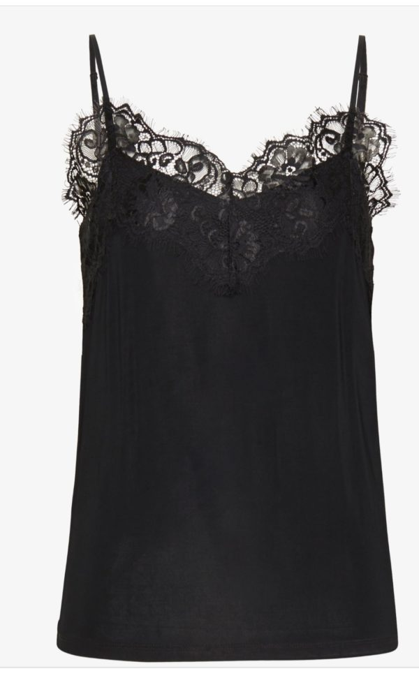 Soaked In Luxury Clara Singlet in Black