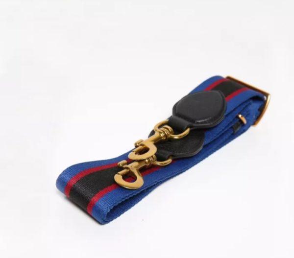 Smaak Adjustable Shoulder Strap in Blue\Red\Black Brushed Gold Hardware