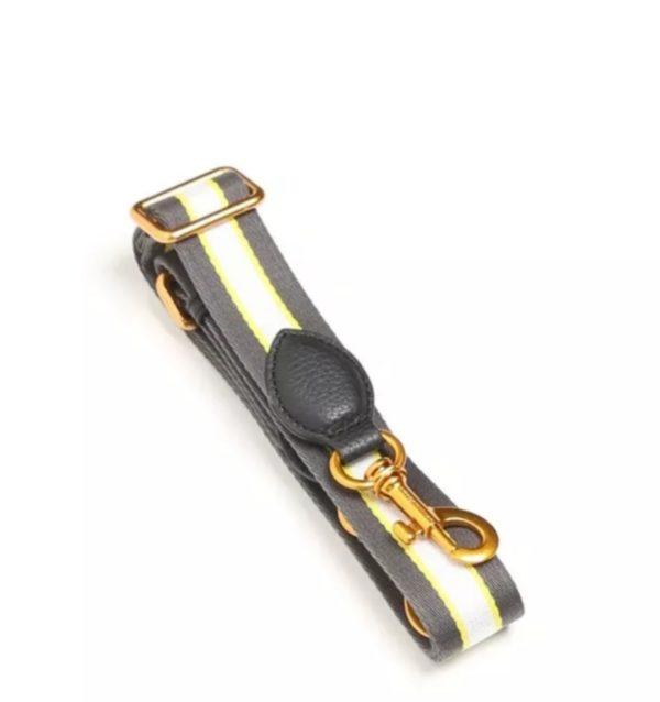 Smaak Adjustable Shoulder Strap in Taupe\Yellow Brushed Gold Hardware