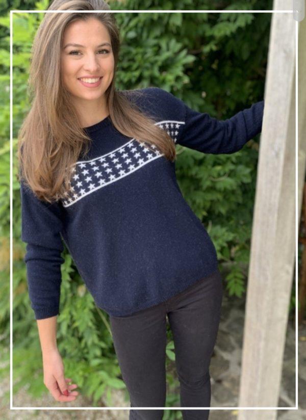 Luella Lizzie Jumper in Navy\Silver