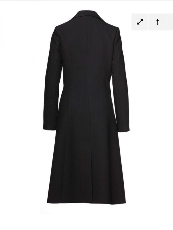 Access Fashion Three Button Black Midi Coat