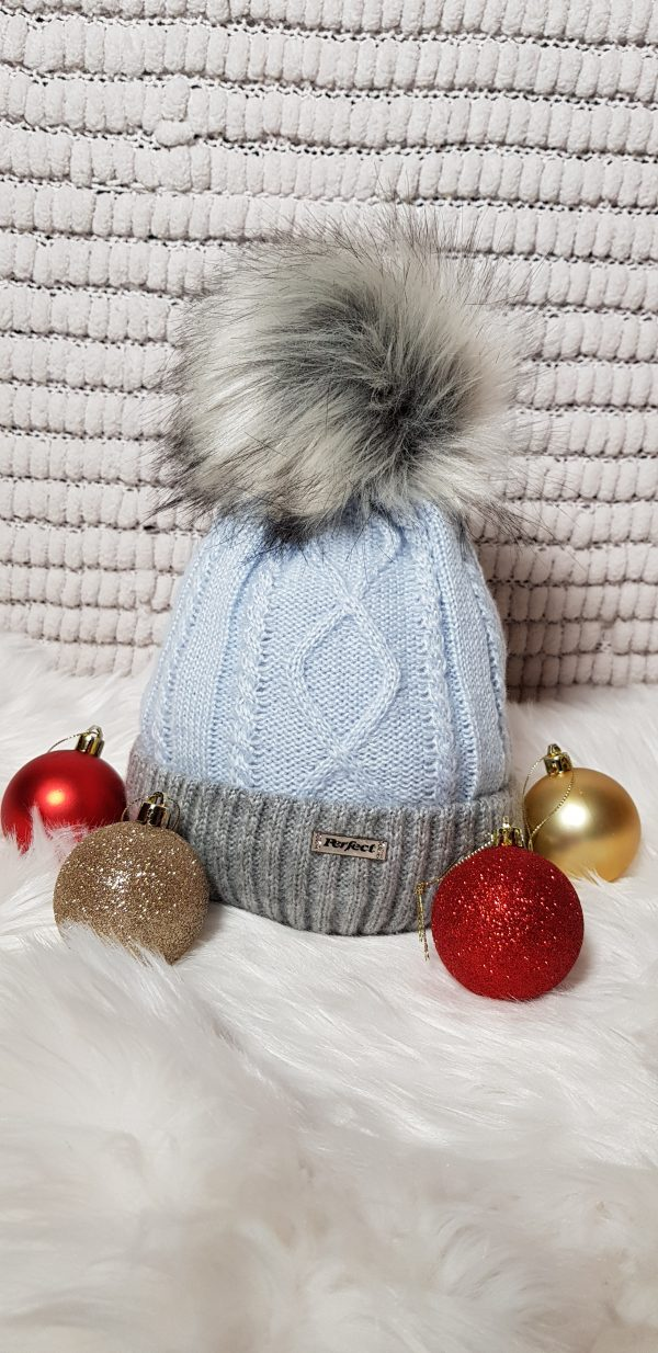 perfect hats two tone blue/grey