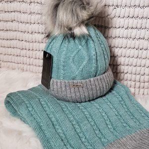 Perfect Hats & Scarf Set in Aqua
