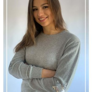 Luella Penny Sequin Jumper in Grey