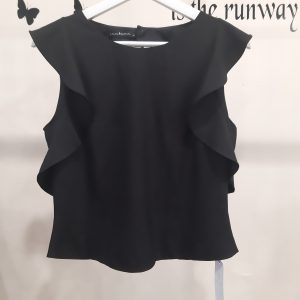 Laura Bernal Short Ruffle Top