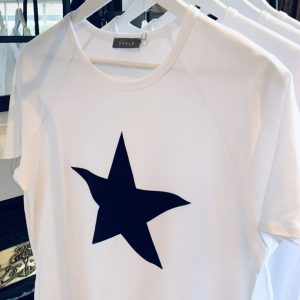 Chalk Clothing White Darcey T-Shirt Navy Star