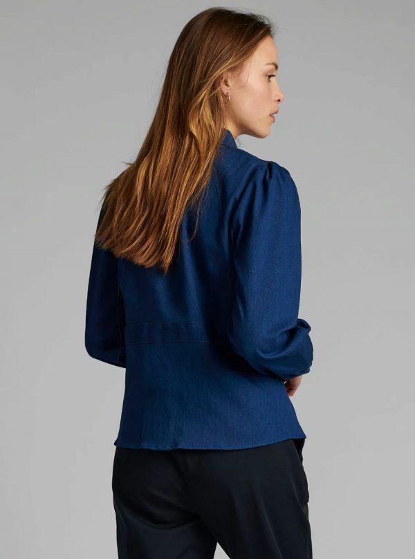 Numph Nubarbara Shirt in Dk Blue Denim
