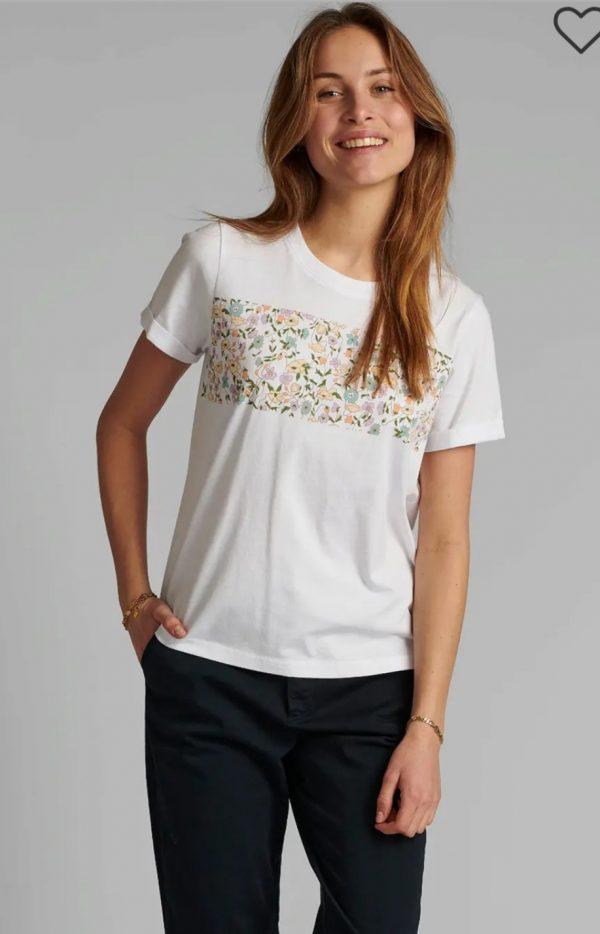Numph Cizzy White Floral T-Shirt