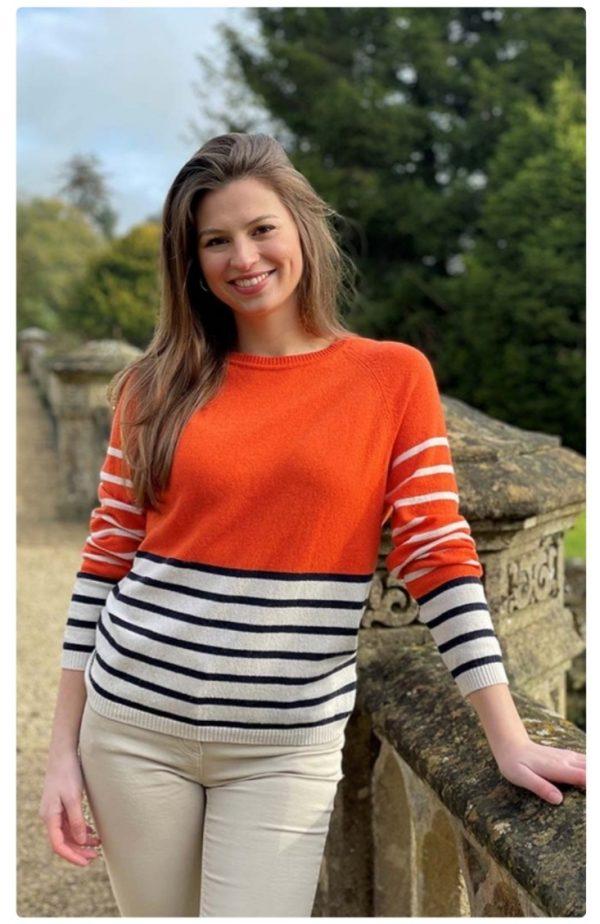 Luella Vivian Cashmere Multi Stripe Jumper